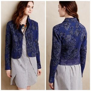 ANTHROPOLOGIE KNITTED & KNOTTED NIGHTSHADE JACKET